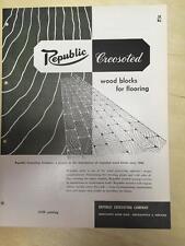 Vtg Republic Creosoting Co Brochure ~ Creosoted Wood Blocks Floor Flooring