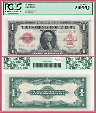 1923 $1 Legal Tender US Note PCGS 30 PPQ Very Fine VF Large-size Red Seal Dollar