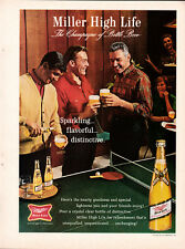 Vintage Miller High Life Beer 1-page clipping ad 1964