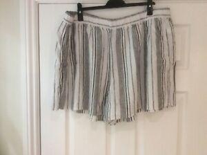 GAP  XXL ( size 20-24)  New thick linen mix  shorts, striped, side pockets