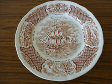 Alfred Meakin China Plate: Fair Winds: Sailing Ship: The Friendship of Salem