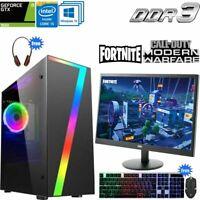 Fast Gaming PC Computer Bundle Intel Core i5 16GB 1TB 4GB GTX1650 Windows 10