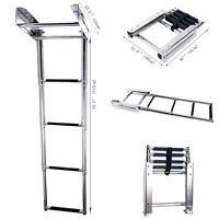Stainless Steel 2 Steps Under Platform Boat Boarding Telescoping Ladder