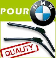 2 x BALAIS D'ESSUIE GLACE AERO POUR BMW X1 2009-2014