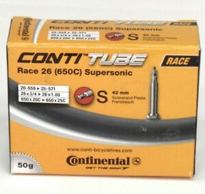 Continental ContiTube Supersonic Inner Tube 650 x 20-25 PV 42mm