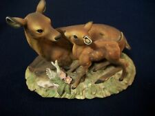 Homco Masterpiece Porcelain Mother Deer and Fawn 1979 Mint