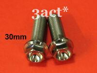 2pcs M10 x 30mm 1.25 Pitch Titanium / Ti Flange Hex Head Bolt