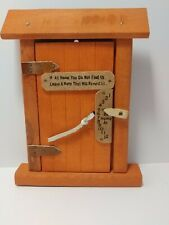 "7.5"" x 6"" Wood Door ""If not at home, Leave a Note"""