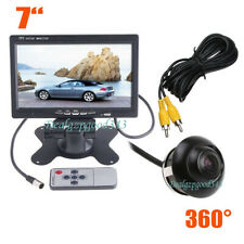 """Kit de visión trasera para coche con monitor LCD de 7 """"+ cámara de marcha atrás"""