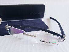 🔥TAG HEUER New Black Frame  Eyeglasses Rimless 🔸️TH3356 France