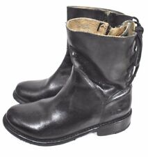 Bed Stu Women's Cheshire Black Glaze Lace Detail Ankle Leather Boots 7.5 #4