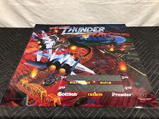NOS Gottlieb Premier Operation Thunder Pinball Machine Game Translite