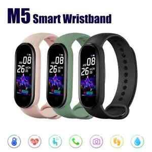 Fitbit Bluetooth Smart Watch M5 FitnessTracker Heart Rate Blood Pressure
