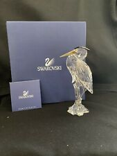 "New ListingSwarovski Crystal ""Silver Heron"" Brand New Condition and Retired"