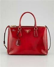 PRADA PATENT LEATHER SPAZZOLATO DOUBLE-ZIP  TOTE BAG NEW WITH TAGS $1895