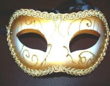 Venezianische Maske Venezia Halbmaske Augenmaske Spitzenmaske Karneval Neu Gold