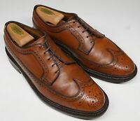 Vtg Florsheim Imperial 5 Nail 93602 Kenmoor Hand Stained Brown 9D Longwing Shoes