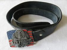 Ceinture Boucle en métal AIR FORCE en cuir LEVI'S 501 USA Vêtement Homme