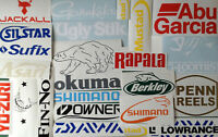 Fishing Boat Stickers Set of 12 New Sticker Decals For Cars Boats Walls Windows