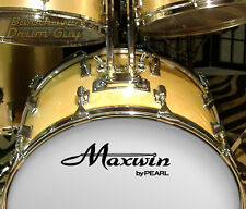 Maxwin, Vintage, vinyl, Adhesive, Repro Logo Decal, for Bass Drum Reso Head