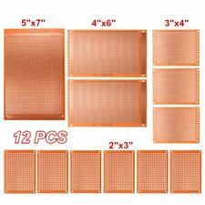 12pcs Prototyping PCB Printed Circuit Board Prototype Breadboard Stripboard KIT
