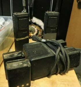 Set of 2 P200 Handheld Radios with Battery Charger and 2 Extra Batteries