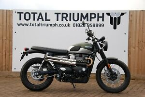 Total Triumph Street Scrambler 900 Short Slip On Silencer (007 Guy Martin Style)