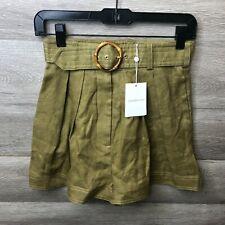 Zimmermann Womens Size 4 Khaki Super Eight Safari Short NEW