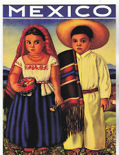 """~Post Card~""""Young Couple in Traditional Clothing from Mexico""""  (B313)"""