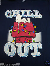 CHARLIE BROWN PEANUTS SNOOPY CHRISTMAS T SHIRT SIZE SMALL S CHILL OUT