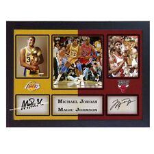 Michael Jordan Magic Johnson Firmato Autografo NBA Chicago Bulls LA Lakers incorniciato