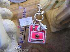NWT Coach 63836 New Legacy Handbag Bag charm Key Fob! w dustbag