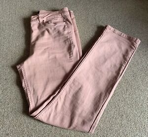 """Long Tall Sally Pale Pink Straight Leg Jeans UK16 L34"""" LTS High Rise"""