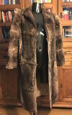 Vintage Genuine Real Fur Coat / Jacket Ladies Long Length Mixed Brown Colouring