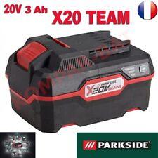 batterie Lithium-ion 20V  capacité 3 Ah Parkside série X20V TEAM