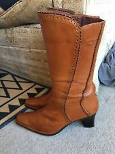 PIKOLINOS WOMENS BROWN LEATHER BOOTS SIZE UK 6 EUR 39 NICE CONDITION