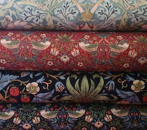 William Morris Kelmscott Collection Fabric 110cm wide, Strawberry Thief