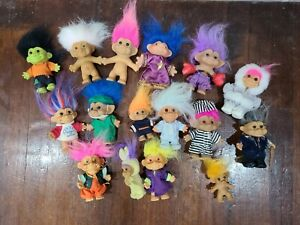 Vintage Russ And Dam Troll Doll Lot