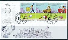 ISRAEL 2018 COMICS & CARICATURES STAMPS FDC