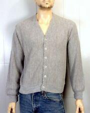 vtg 80s Eagle Crest Heather Gray Men's Orlon Acrylic Cardigan Sweater sz L