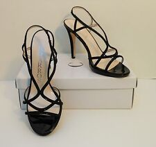 NIB Caparros Black Sequin Strappy Platform High Heels Pumps Shoes 9 M (S232)