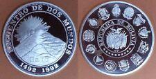 BOLIVIA 1991. 10 Bolivianos plata Encuentro Dos Mundos. 1ª SERIE IBEROAMERICANA.
