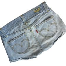 Levi's 504 Shorts Size 7 Women's Slouch Denim Light Wash Festival Bootie