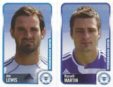 217 JOE LEWIS/R.MARTIN PETERBOROUGH UNITED STICKER FL CHAMPIONSHIP 2010 PANINI