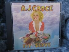 """A.J. CROCE CD """"FIT TO SERVE"""" 1998 RUF RECORDS"""