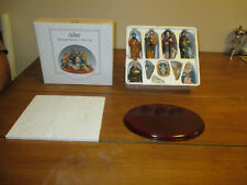 Scott'S Porcelain Nativity Set w/Stand - 11 Piece Nib ~ Opened for Photos