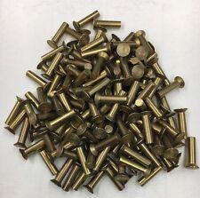 3/16X3/4 Rivet Brass Solid Countersunk Head Flush Blacksmith Antique 125 Pcs