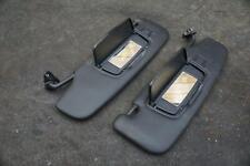 Set of 2 Left Right Sun Visor Black OEM Porsche Boxster Cayman 981 2014-19