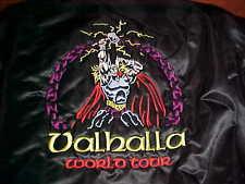 Game Heavy Metal Viking Valhalla World Tour Full Zip Stitch Black Nylon Jacket M