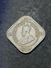 BRITISH INDIA 1923 KING GEORGE V EMPEROR TWO ANNAS COIN #999
